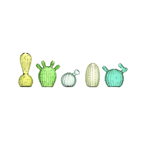 CACTUS VASES - SET OF 5