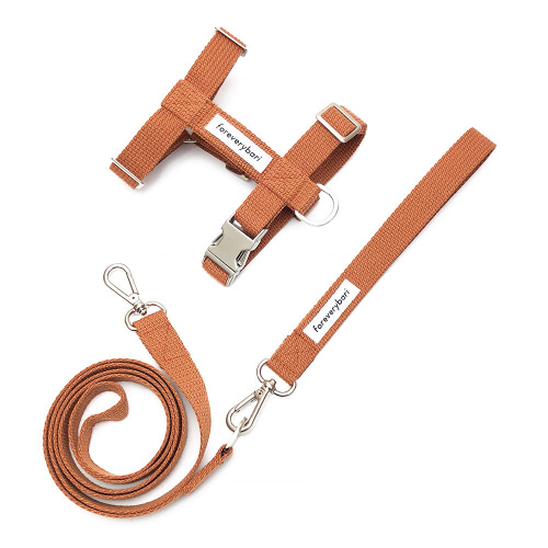 [PET] HARNESS SET - CAMEL