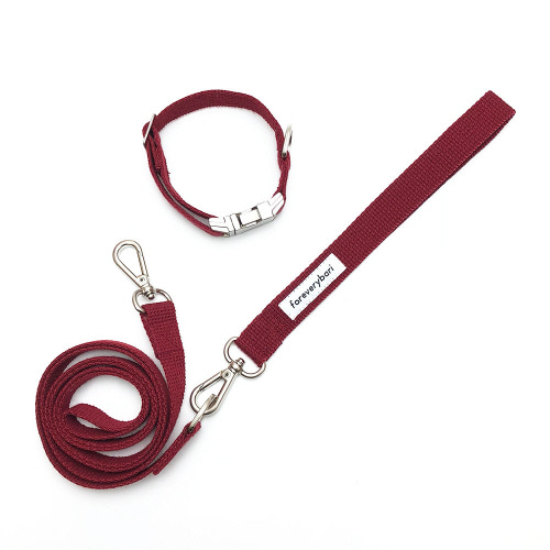 [PET] COLLAR SET - BURGUNDY