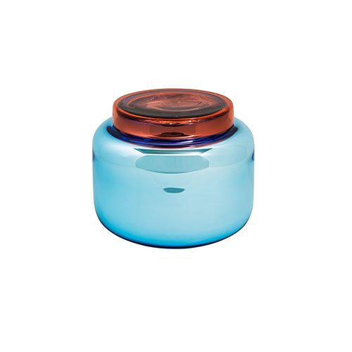 VESSEL LOW CONTAINER BLUE